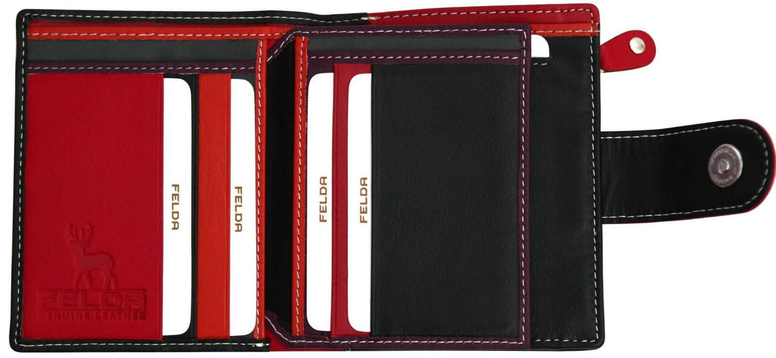Felda-RFID-onorevoli-MEDAGLIA-amp-Card-Purse-Wallet-Genuine-Leather-Multi-SOFT-BOX-REGALO miniatura 20