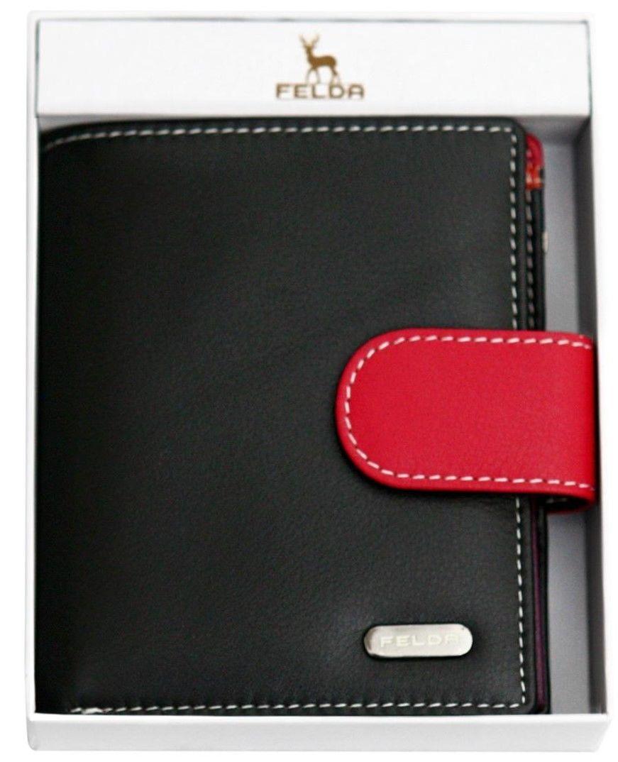 Felda-RFID-onorevoli-MEDAGLIA-amp-Card-Purse-Wallet-Genuine-Leather-Multi-SOFT-BOX-REGALO miniatura 16