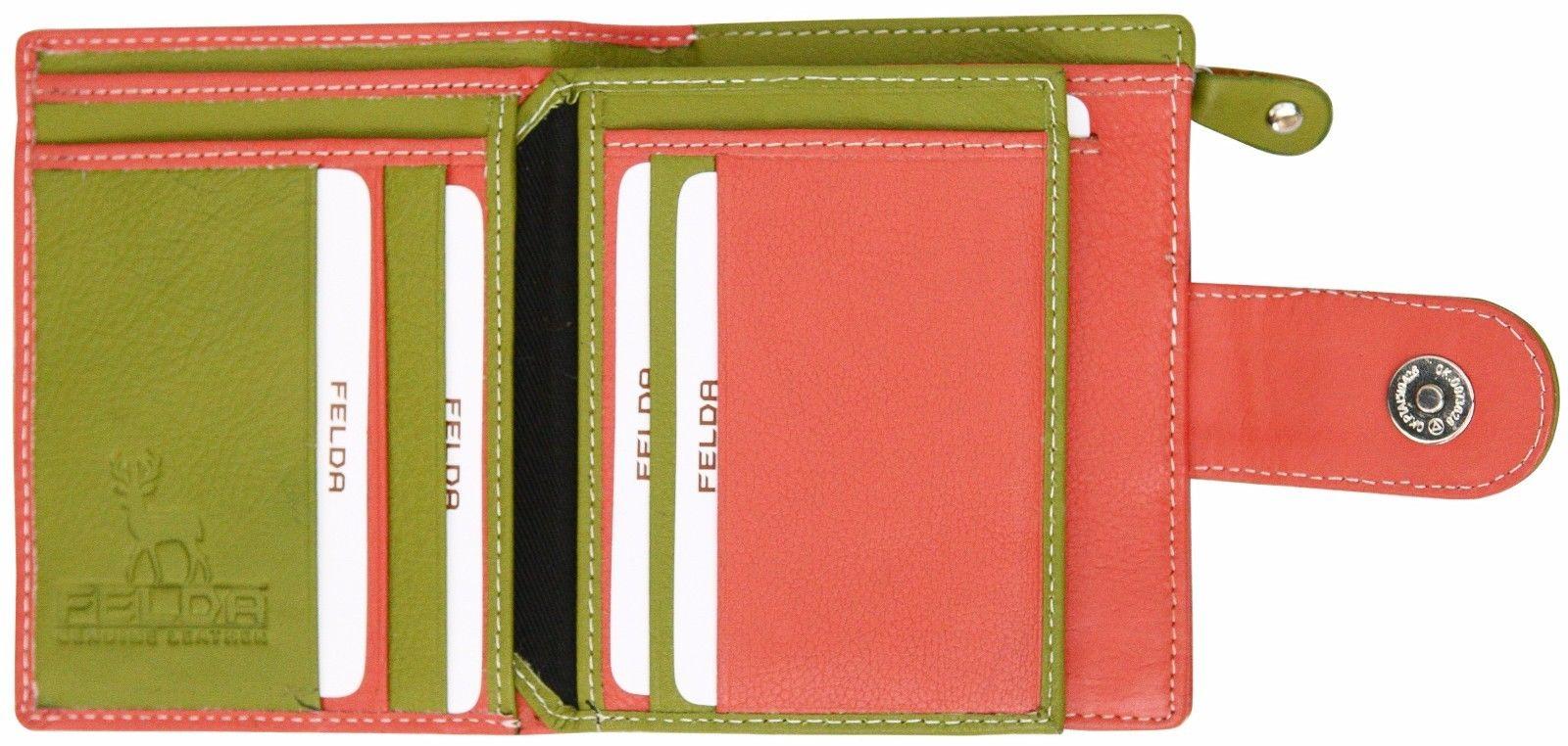 Felda-RFID-onorevoli-MEDAGLIA-amp-Card-Purse-Wallet-Genuine-Leather-Multi-SOFT-BOX-REGALO miniatura 26