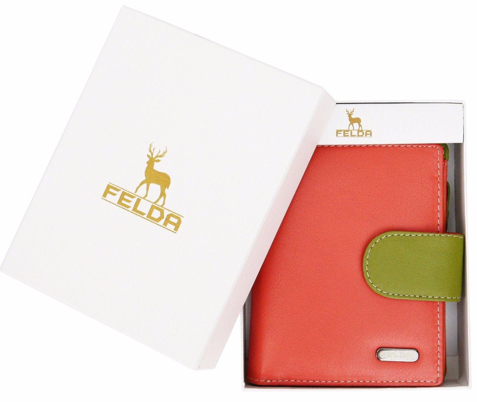 Felda-RFID-onorevoli-MEDAGLIA-amp-Card-Purse-Wallet-Genuine-Leather-Multi-SOFT-BOX-REGALO miniatura 25