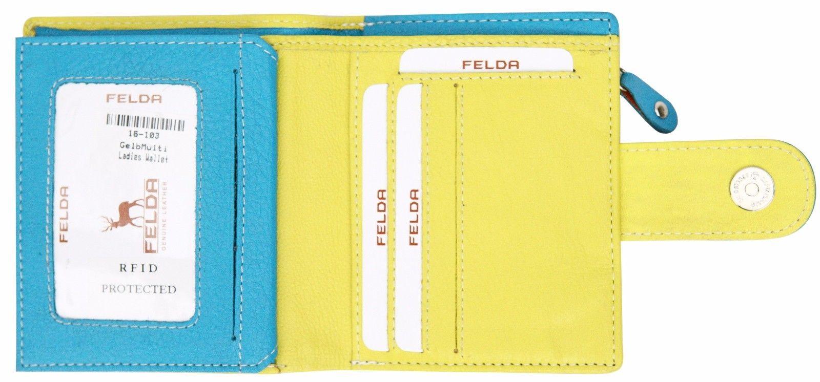 Felda-RFID-onorevoli-MEDAGLIA-amp-Card-Purse-Wallet-Genuine-Leather-Multi-SOFT-BOX-REGALO miniatura 32