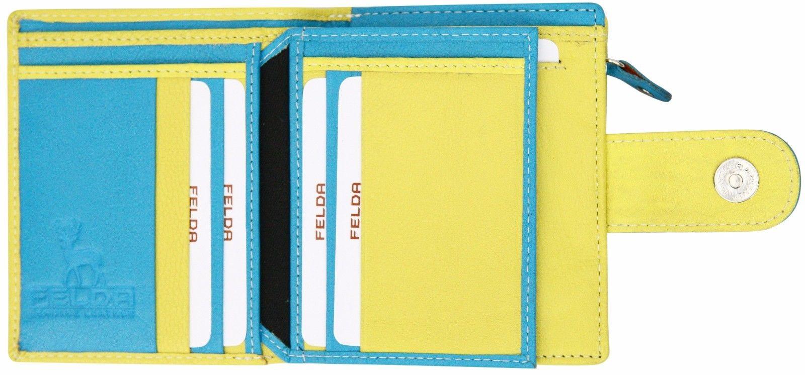 Felda-RFID-onorevoli-MEDAGLIA-amp-Card-Purse-Wallet-Genuine-Leather-Multi-SOFT-BOX-REGALO miniatura 33