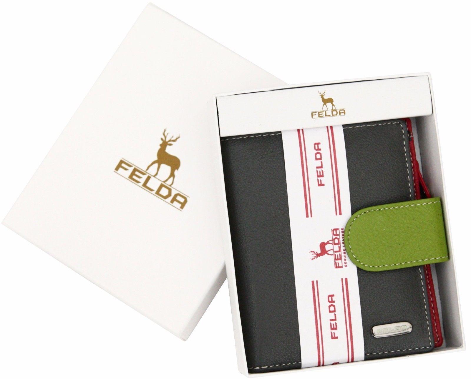 Felda-RFID-onorevoli-MEDAGLIA-amp-Card-Purse-Wallet-Genuine-Leather-Multi-SOFT-BOX-REGALO miniatura 37