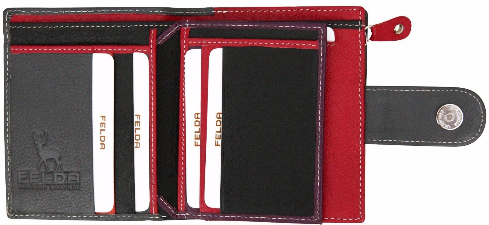 Felda-RFID-onorevoli-MEDAGLIA-amp-Card-Purse-Wallet-Genuine-Leather-Multi-SOFT-BOX-REGALO miniatura 39