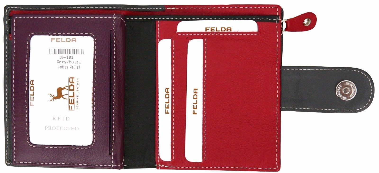 Felda-RFID-onorevoli-MEDAGLIA-amp-Card-Purse-Wallet-Genuine-Leather-Multi-SOFT-BOX-REGALO miniatura 40