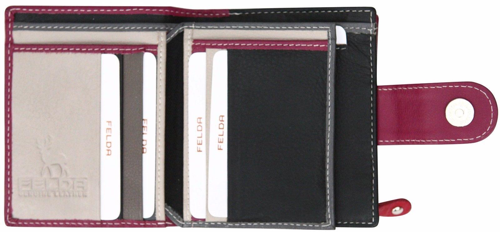 Felda-RFID-onorevoli-MEDAGLIA-amp-Card-Purse-Wallet-Genuine-Leather-Multi-SOFT-BOX-REGALO miniatura 45