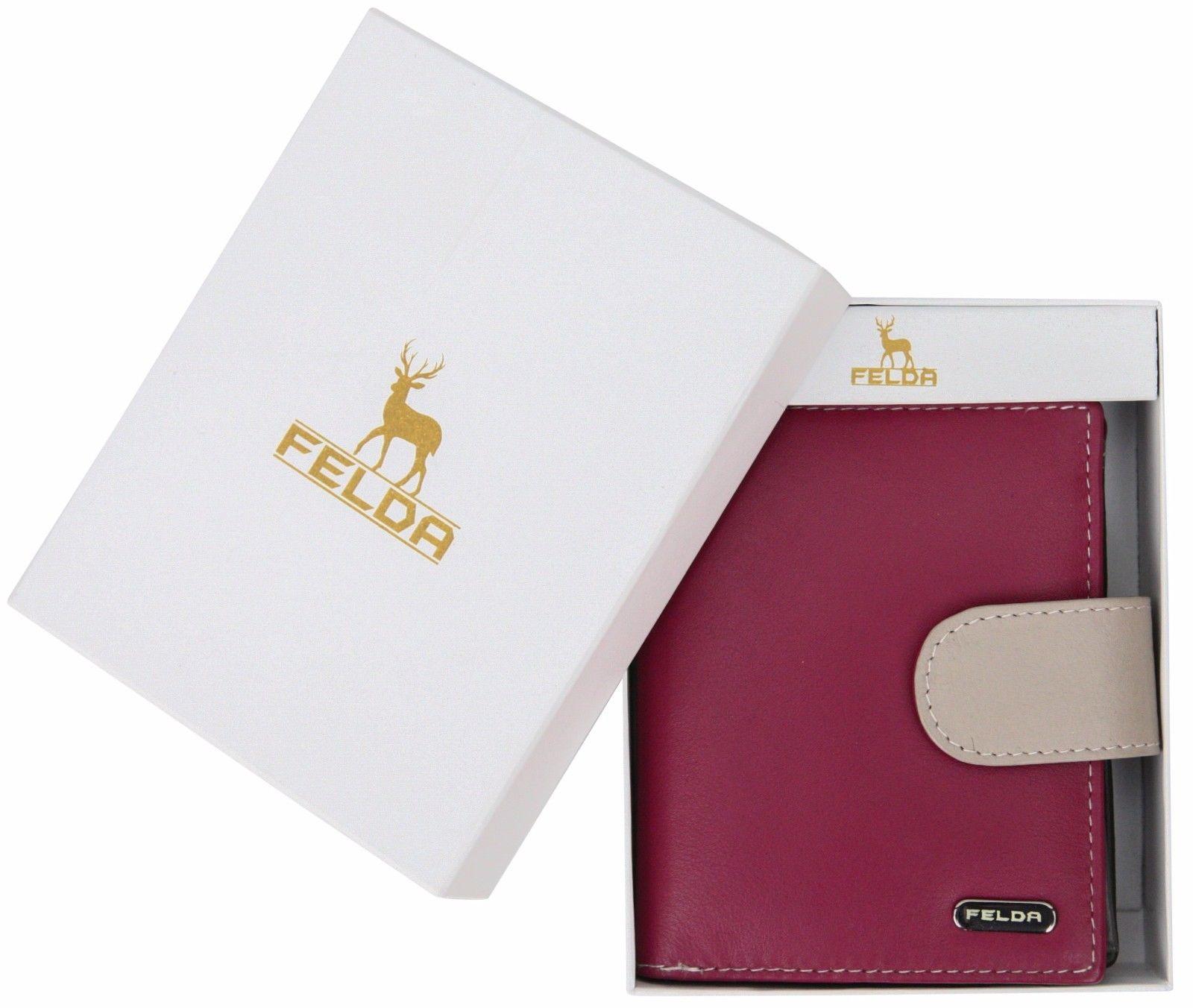 Felda-RFID-onorevoli-MEDAGLIA-amp-Card-Purse-Wallet-Genuine-Leather-Multi-SOFT-BOX-REGALO miniatura 43