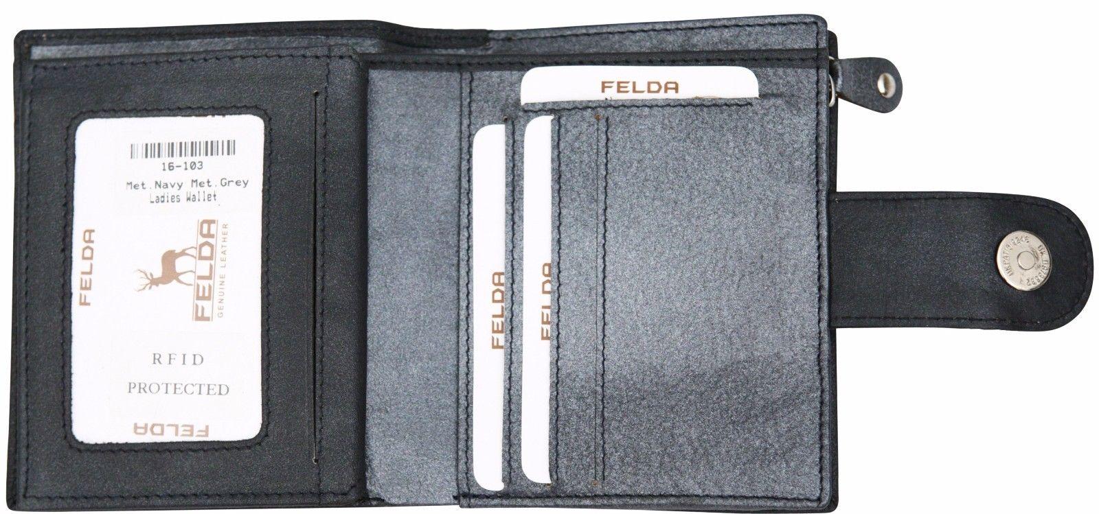 Felda-RFID-onorevoli-MEDAGLIA-amp-Card-Purse-Wallet-Genuine-Leather-Multi-SOFT-BOX-REGALO miniatura 51