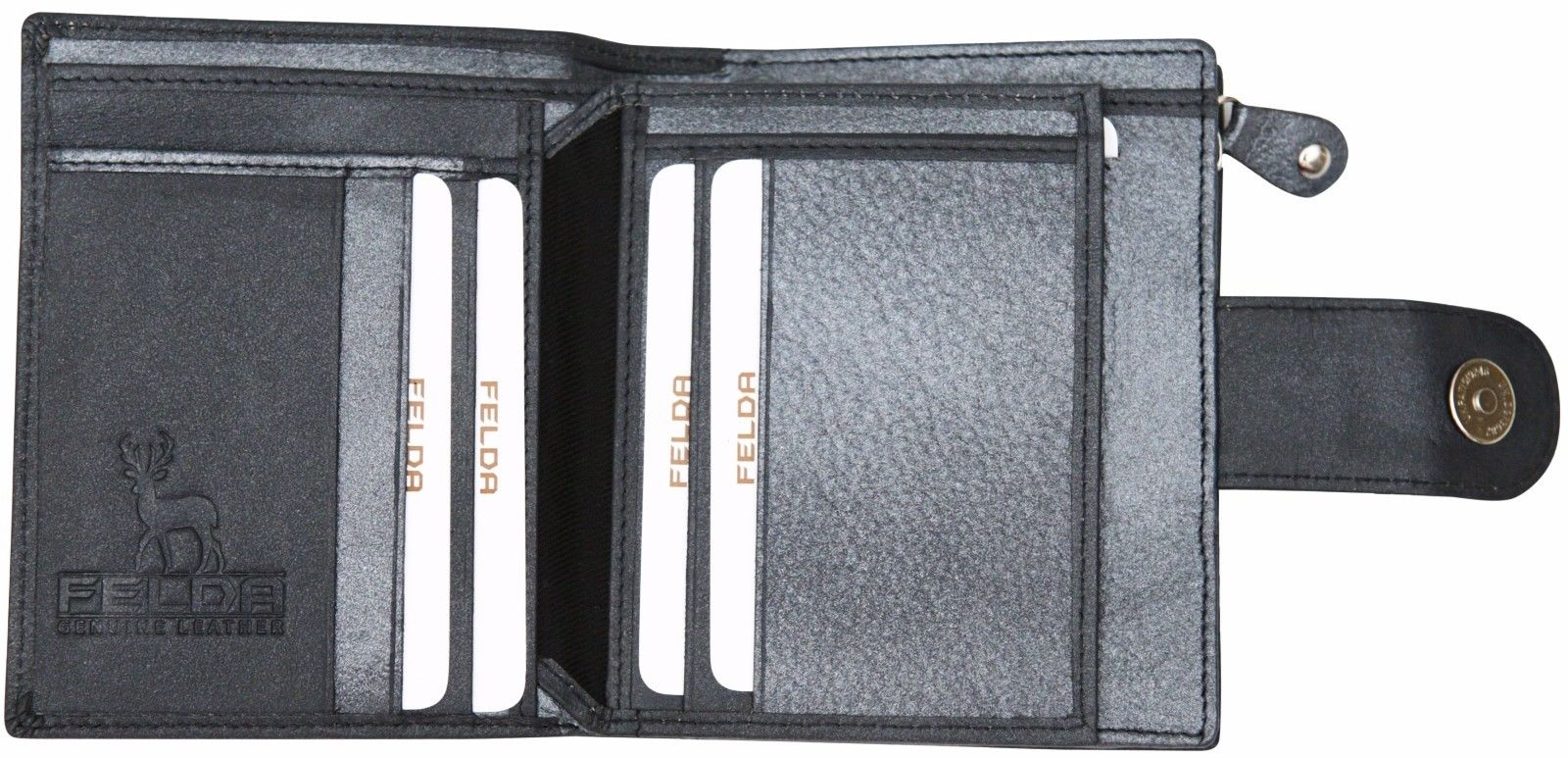 Felda-RFID-onorevoli-MEDAGLIA-amp-Card-Purse-Wallet-Genuine-Leather-Multi-SOFT-BOX-REGALO miniatura 50