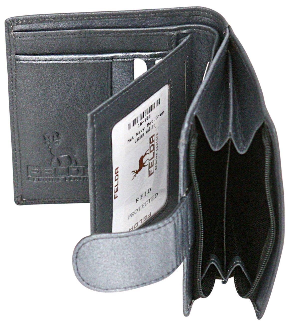 Felda-RFID-onorevoli-MEDAGLIA-amp-Card-Purse-Wallet-Genuine-Leather-Multi-SOFT-BOX-REGALO miniatura 52
