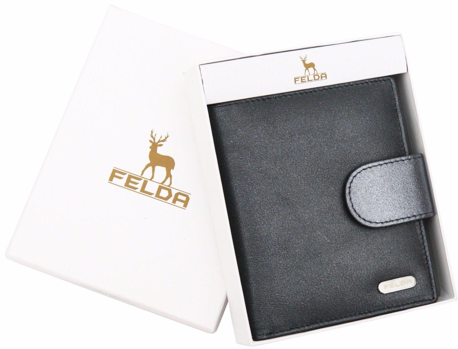 Felda-RFID-onorevoli-MEDAGLIA-amp-Card-Purse-Wallet-Genuine-Leather-Multi-SOFT-BOX-REGALO miniatura 49