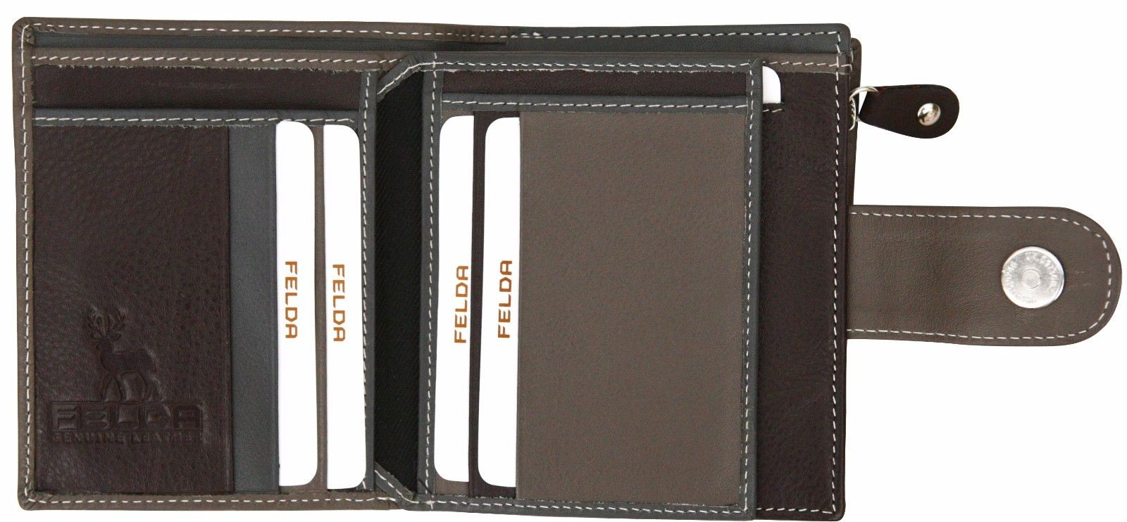 Felda-RFID-onorevoli-MEDAGLIA-amp-Card-Purse-Wallet-Genuine-Leather-Multi-SOFT-BOX-REGALO miniatura 57