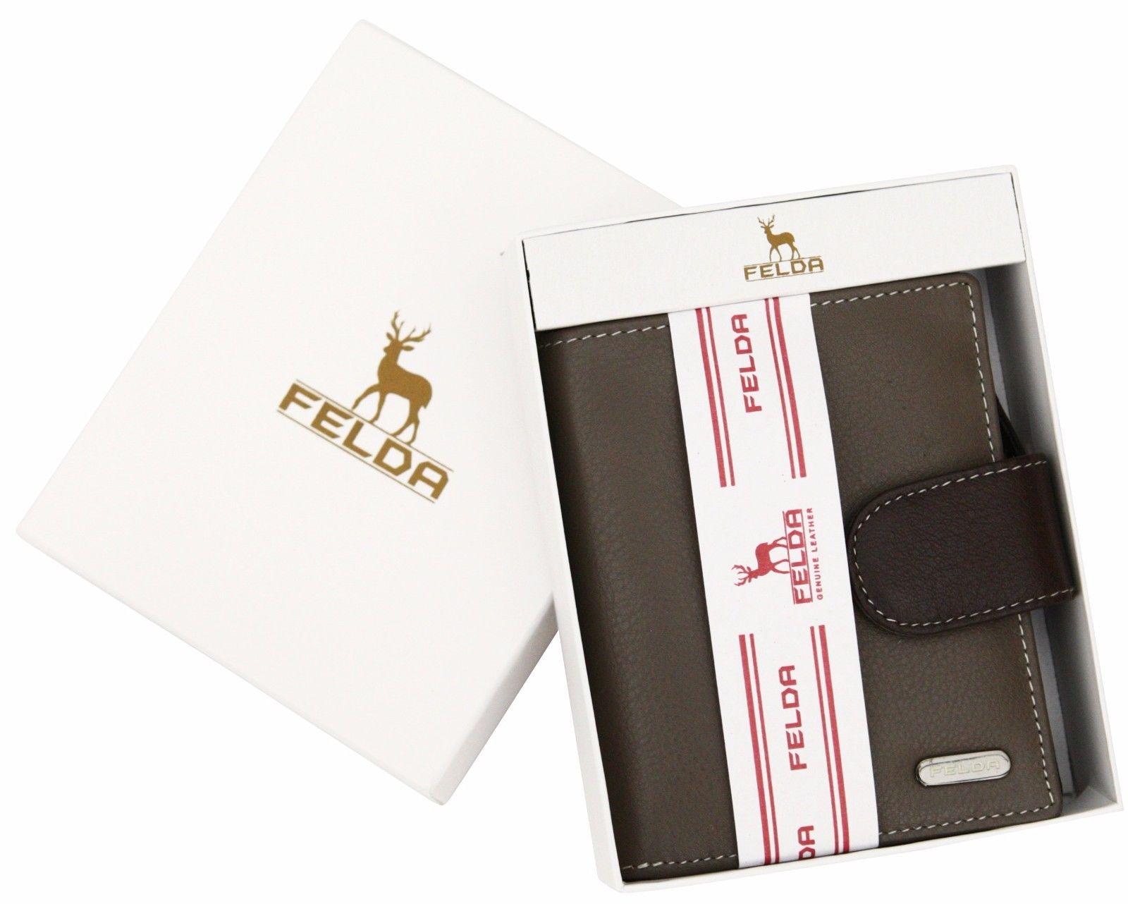 Felda-RFID-onorevoli-MEDAGLIA-amp-Card-Purse-Wallet-Genuine-Leather-Multi-SOFT-BOX-REGALO miniatura 55
