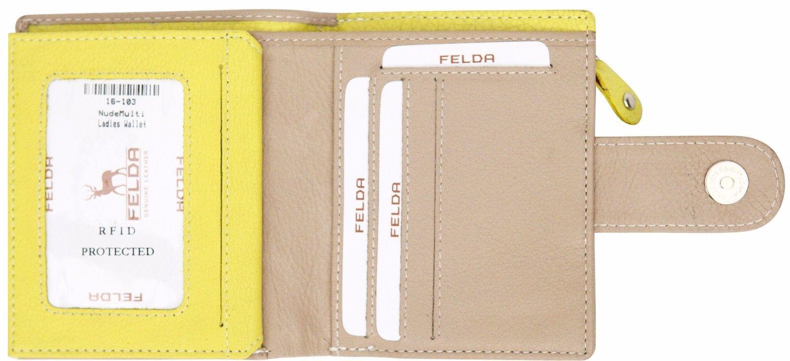 Felda-RFID-onorevoli-MEDAGLIA-amp-Card-Purse-Wallet-Genuine-Leather-Multi-SOFT-BOX-REGALO miniatura 63