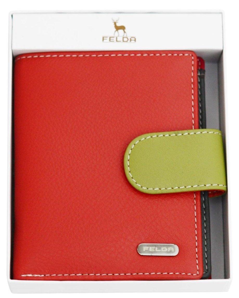 Felda-RFID-onorevoli-MEDAGLIA-amp-Card-Purse-Wallet-Genuine-Leather-Multi-SOFT-BOX-REGALO miniatura 70