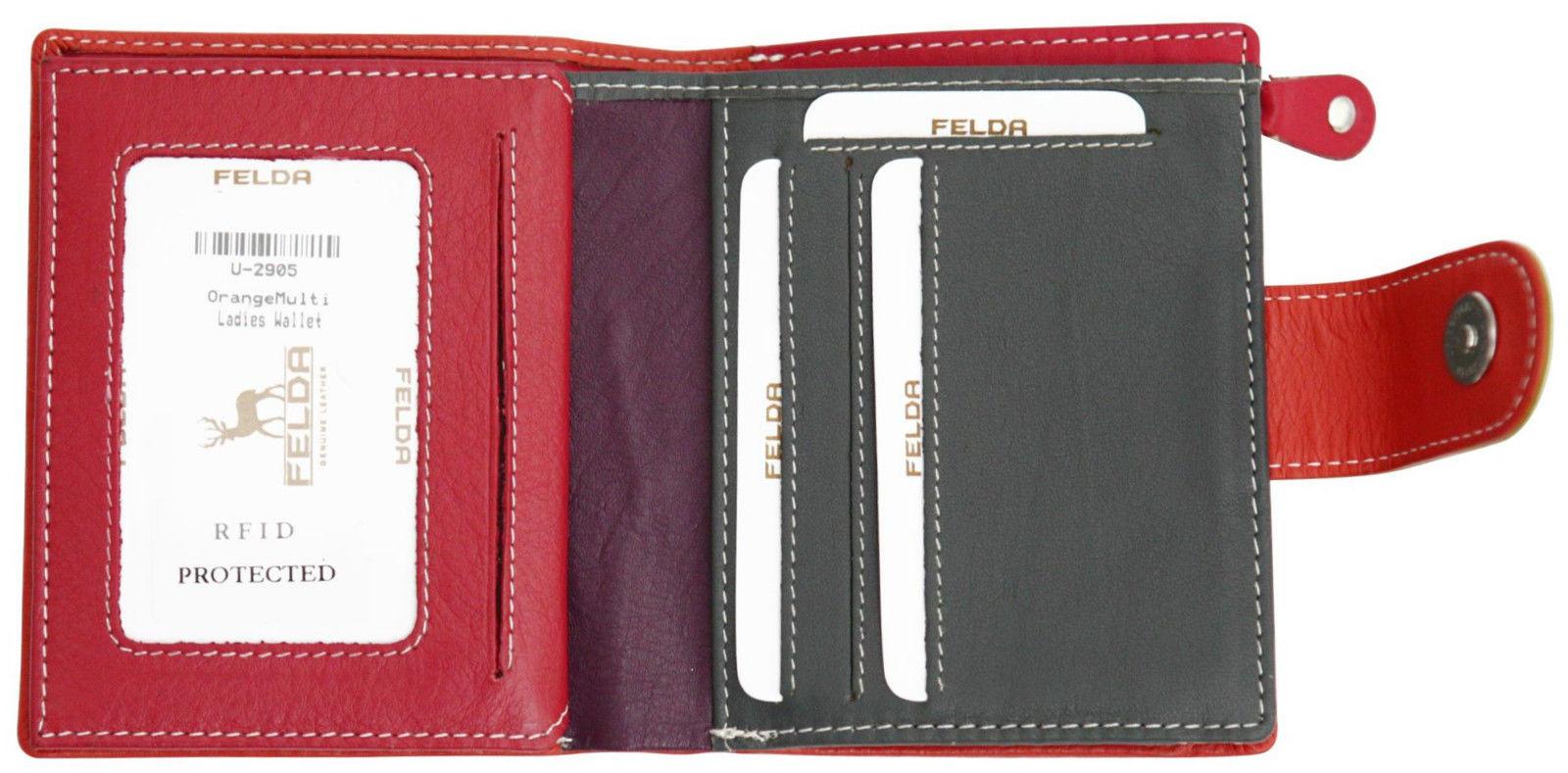 Felda-RFID-onorevoli-MEDAGLIA-amp-Card-Purse-Wallet-Genuine-Leather-Multi-SOFT-BOX-REGALO miniatura 69