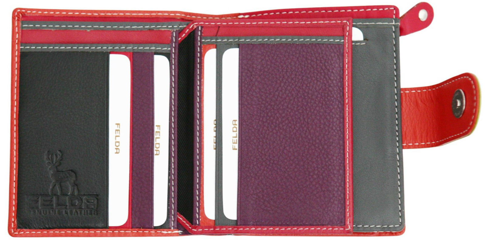 Felda-RFID-onorevoli-MEDAGLIA-amp-Card-Purse-Wallet-Genuine-Leather-Multi-SOFT-BOX-REGALO miniatura 68
