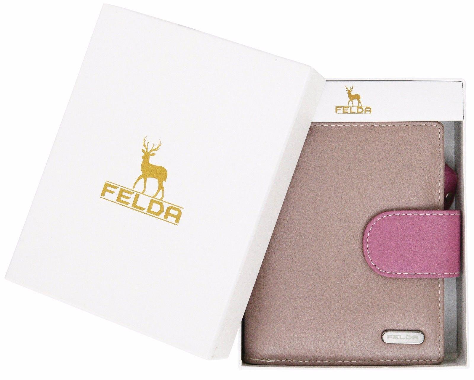 Felda-RFID-onorevoli-MEDAGLIA-amp-Card-Purse-Wallet-Genuine-Leather-Multi-SOFT-BOX-REGALO miniatura 81