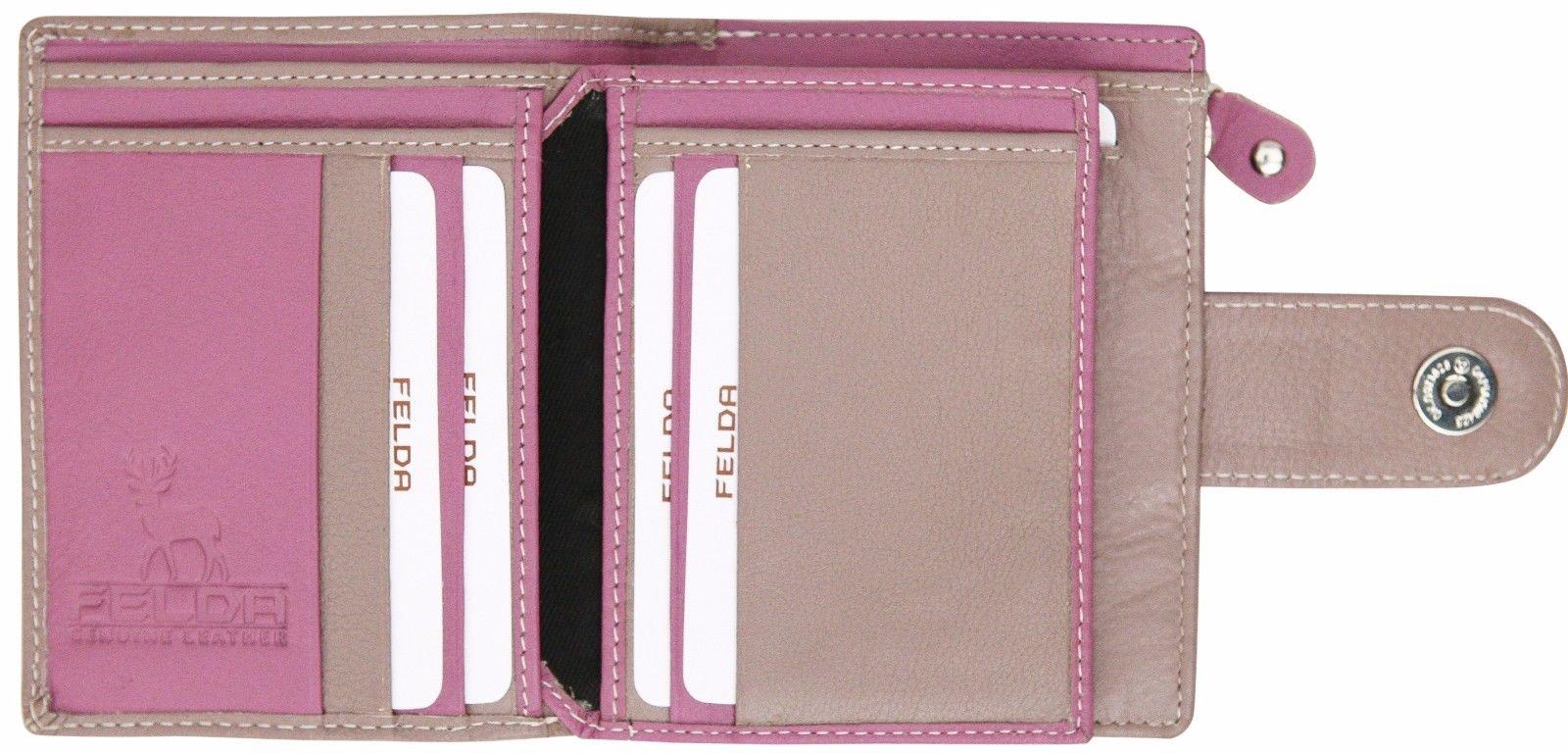 Felda-RFID-onorevoli-MEDAGLIA-amp-Card-Purse-Wallet-Genuine-Leather-Multi-SOFT-BOX-REGALO miniatura 83