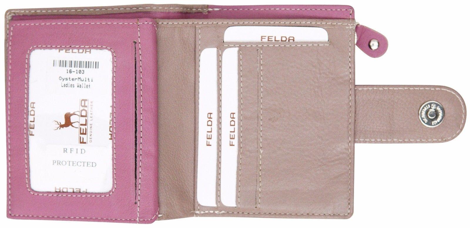 Felda-RFID-onorevoli-MEDAGLIA-amp-Card-Purse-Wallet-Genuine-Leather-Multi-SOFT-BOX-REGALO miniatura 84