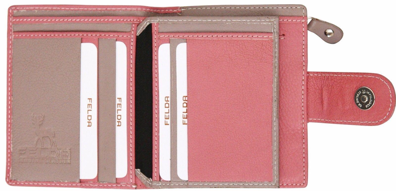 Felda-RFID-onorevoli-MEDAGLIA-amp-Card-Purse-Wallet-Genuine-Leather-Multi-SOFT-BOX-REGALO miniatura 89