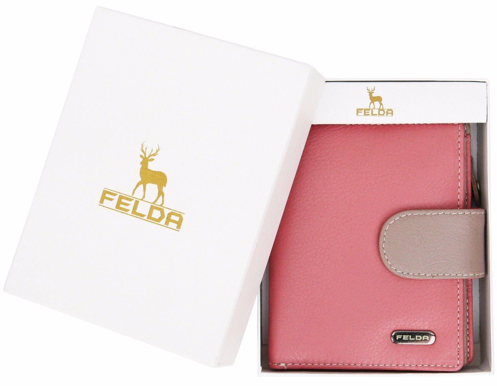 Felda-RFID-onorevoli-MEDAGLIA-amp-Card-Purse-Wallet-Genuine-Leather-Multi-SOFT-BOX-REGALO miniatura 87