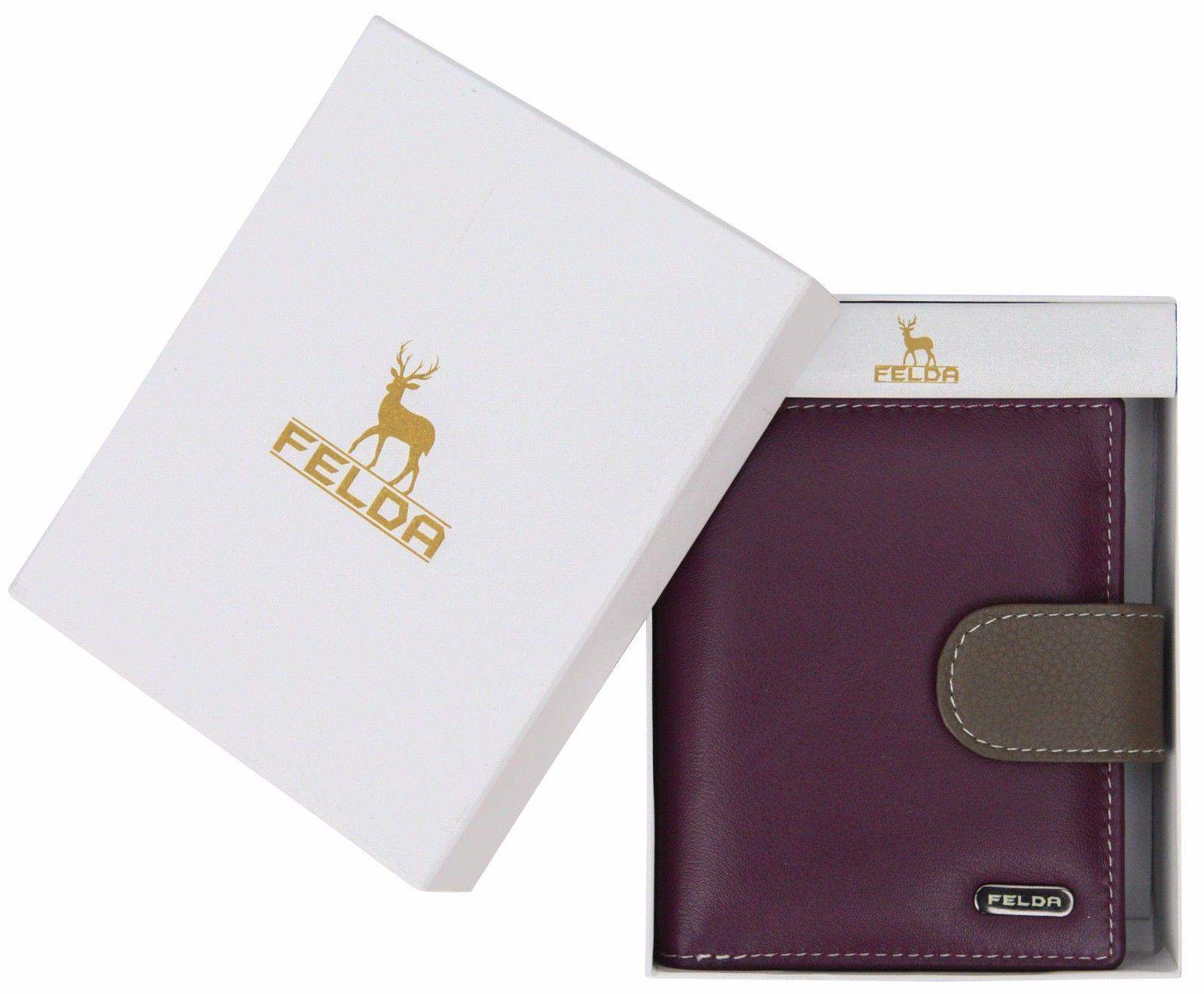 Felda-RFID-onorevoli-MEDAGLIA-amp-Card-Purse-Wallet-Genuine-Leather-Multi-SOFT-BOX-REGALO miniatura 93