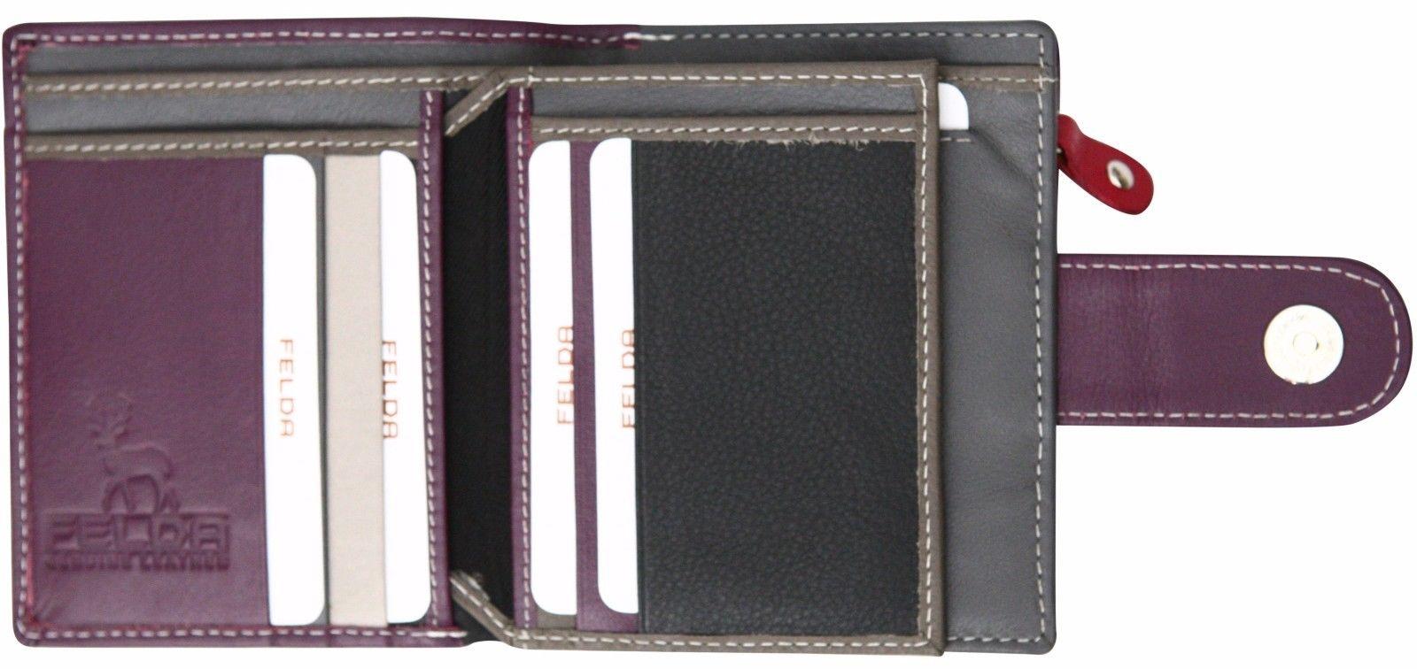 Felda-RFID-onorevoli-MEDAGLIA-amp-Card-Purse-Wallet-Genuine-Leather-Multi-SOFT-BOX-REGALO miniatura 95