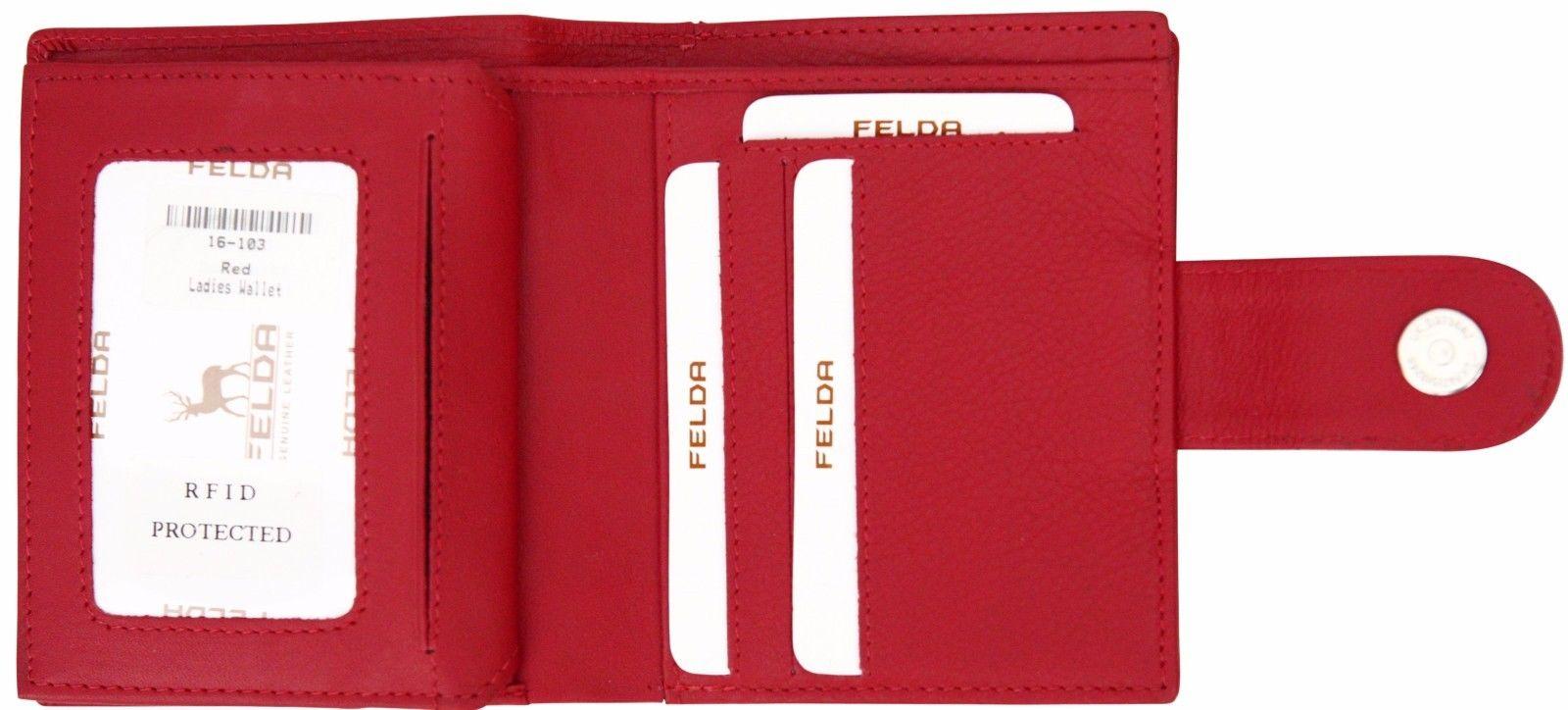 Felda-RFID-onorevoli-MEDAGLIA-amp-Card-Purse-Wallet-Genuine-Leather-Multi-SOFT-BOX-REGALO miniatura 102