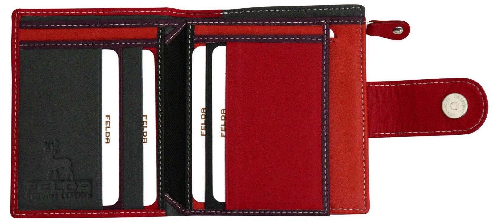 Felda-RFID-onorevoli-MEDAGLIA-amp-Card-Purse-Wallet-Genuine-Leather-Multi-SOFT-BOX-REGALO miniatura 106