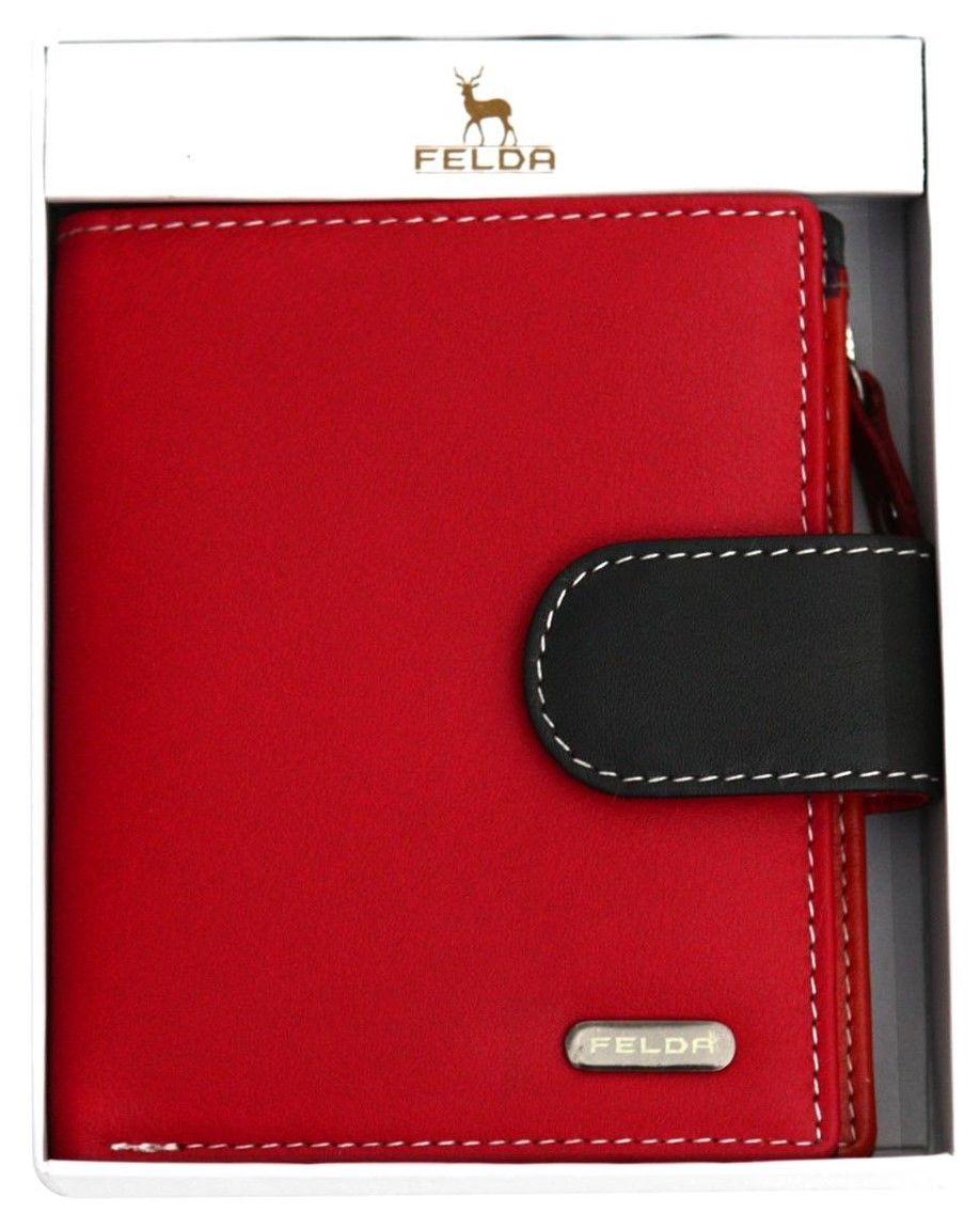 Felda-RFID-onorevoli-MEDAGLIA-amp-Card-Purse-Wallet-Genuine-Leather-Multi-SOFT-BOX-REGALO miniatura 110