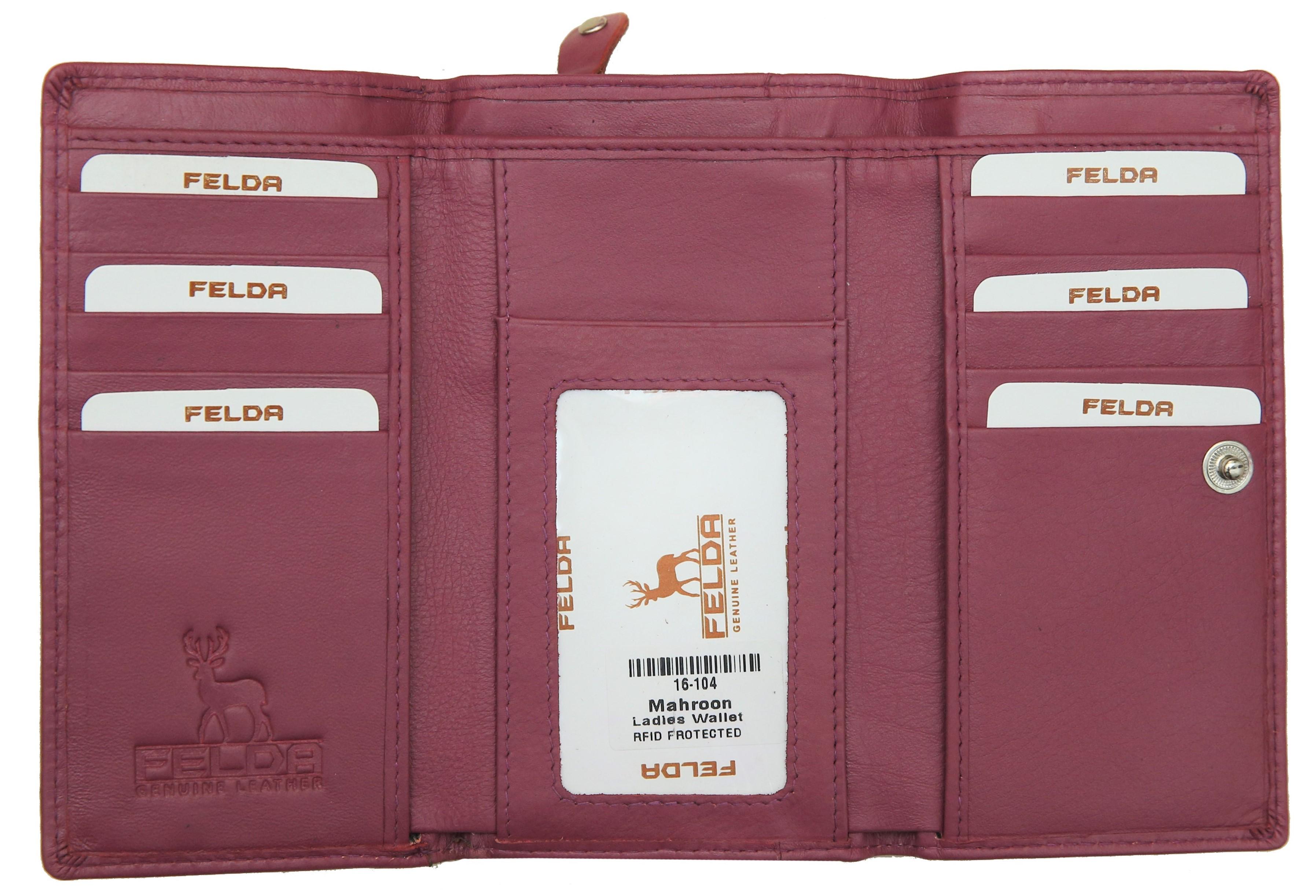 Felda-Portefeuille-pour-cartes-de-credit-cuir-souple-plusieurs-coloris miniature 20