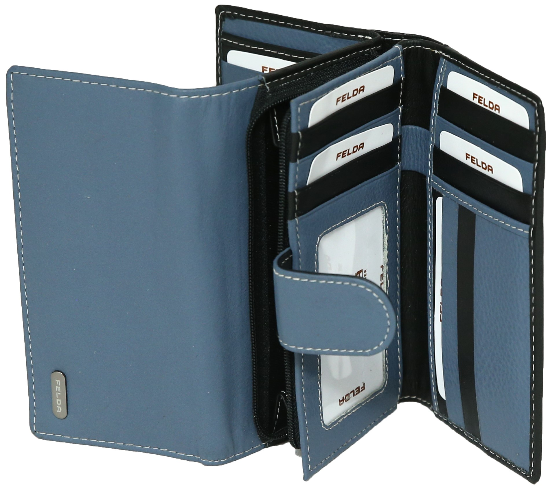 Felda-Portefeuille-pour-cartes-de-credit-cuir-souple-plusieurs-coloris miniature 29