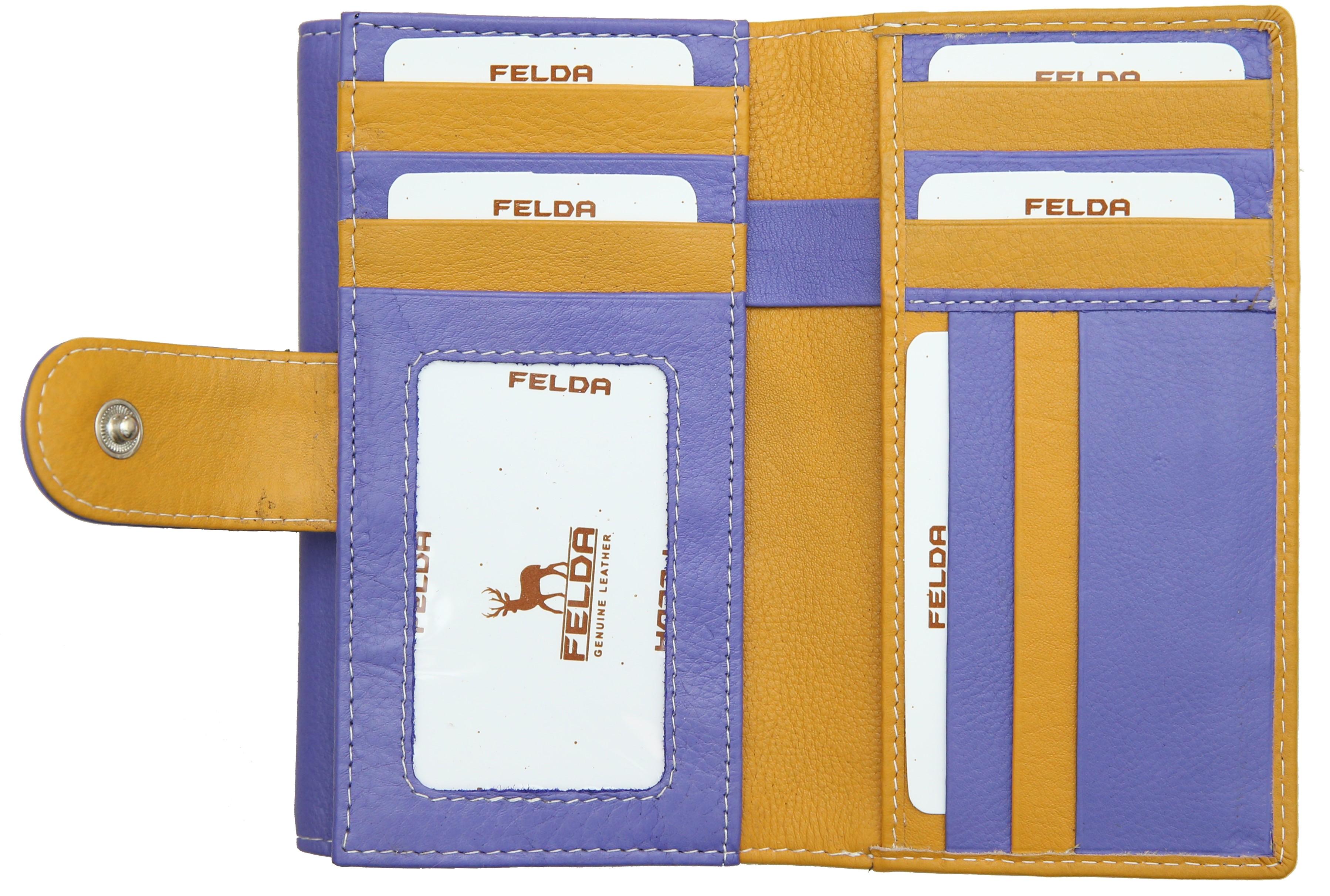 Felda-Portefeuille-pour-cartes-de-credit-cuir-souple-plusieurs-coloris miniature 35