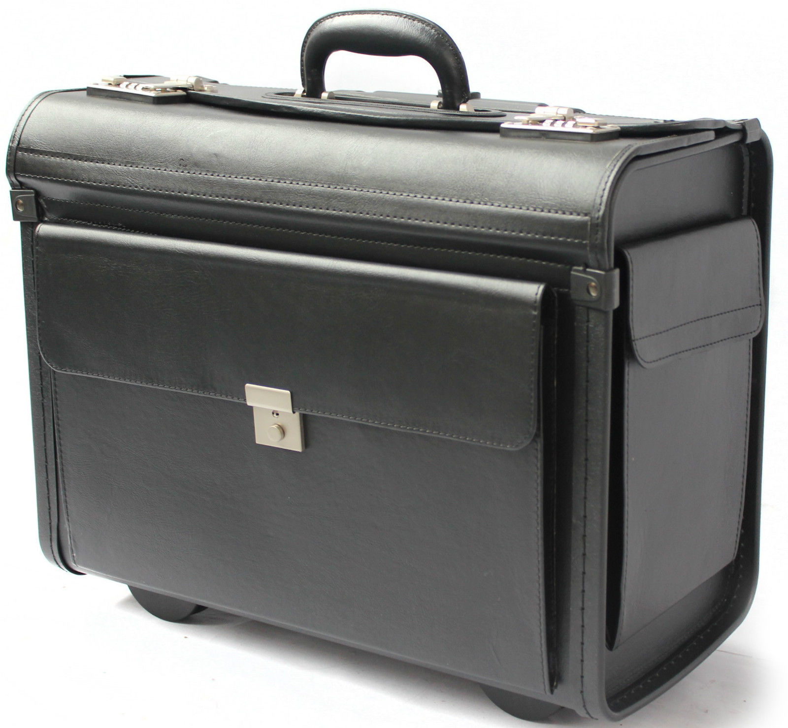 Pilot case wheeled laptop trolley flight briefcase doctors for Laptop cabin bag