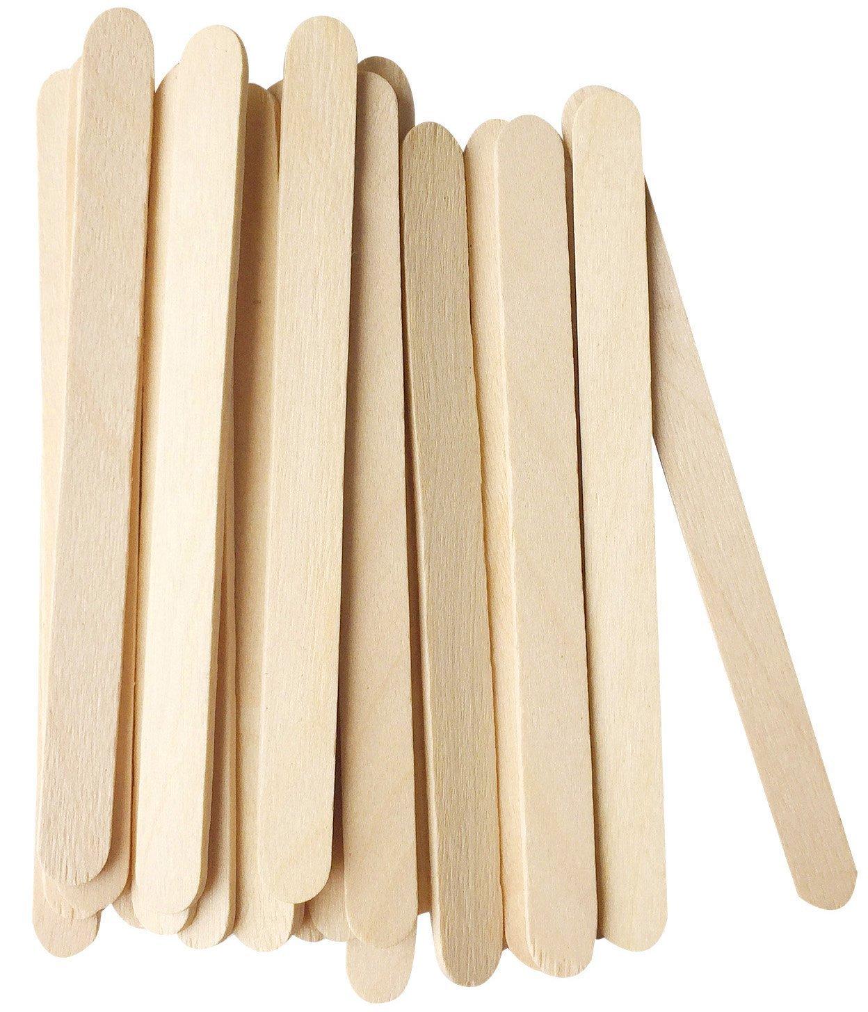 74d0cb90dd Details about Korlon 200 Pcs Craft Sticks Ice Cream Sticks Wooden Popsicle  Sticks