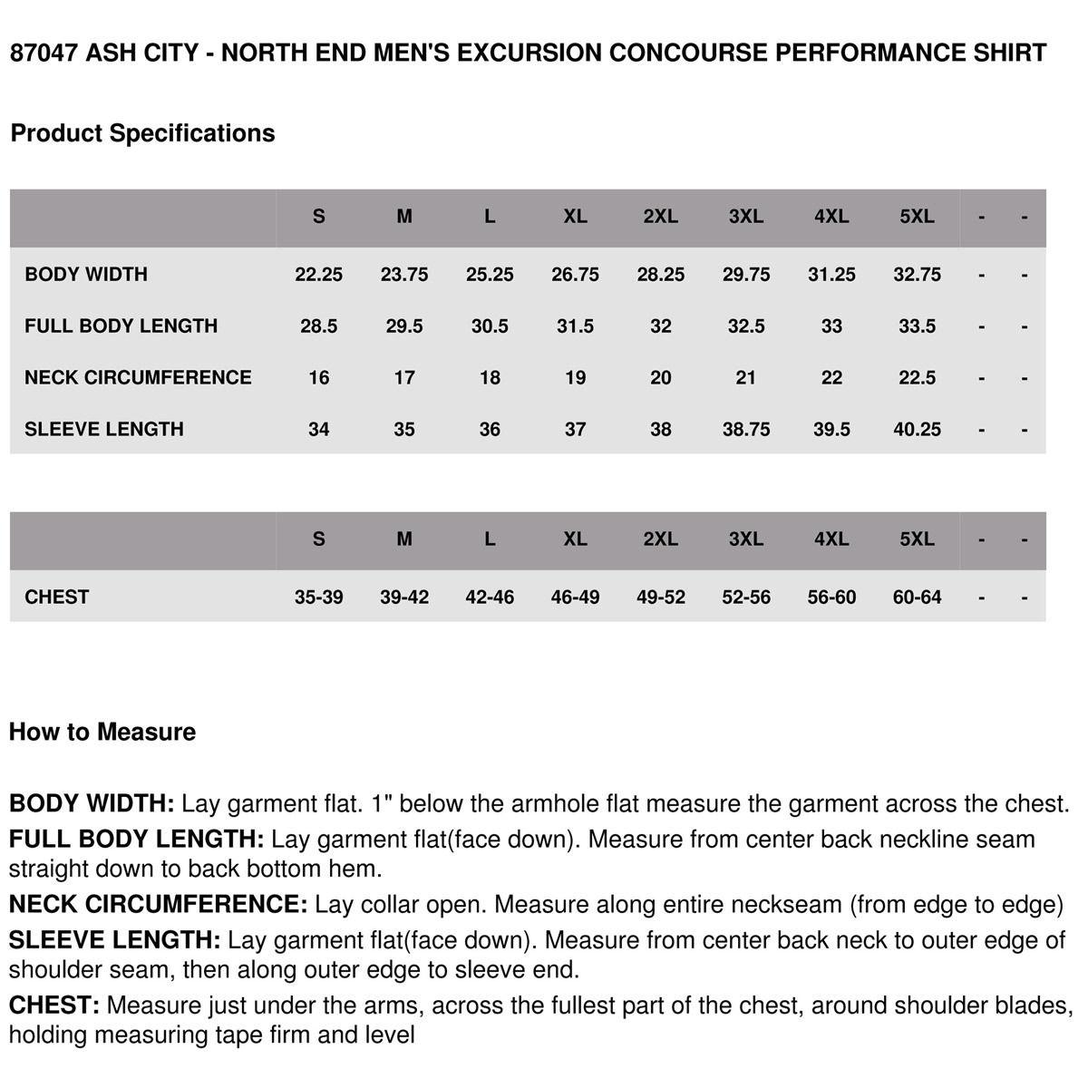 North End 87047 Mens Shirt