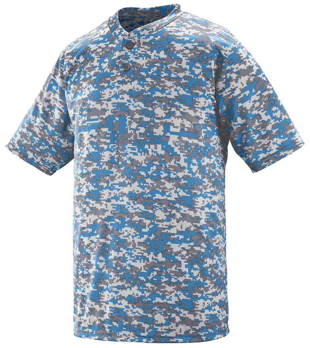 bad74ad3a81e Augusta Sportswear Mens Digi Camo Wicking Two-button Jersey 2xl Columbia  Blue. About this product. Picture 1 of 3  Picture 2 of 3  Picture 3 of 3