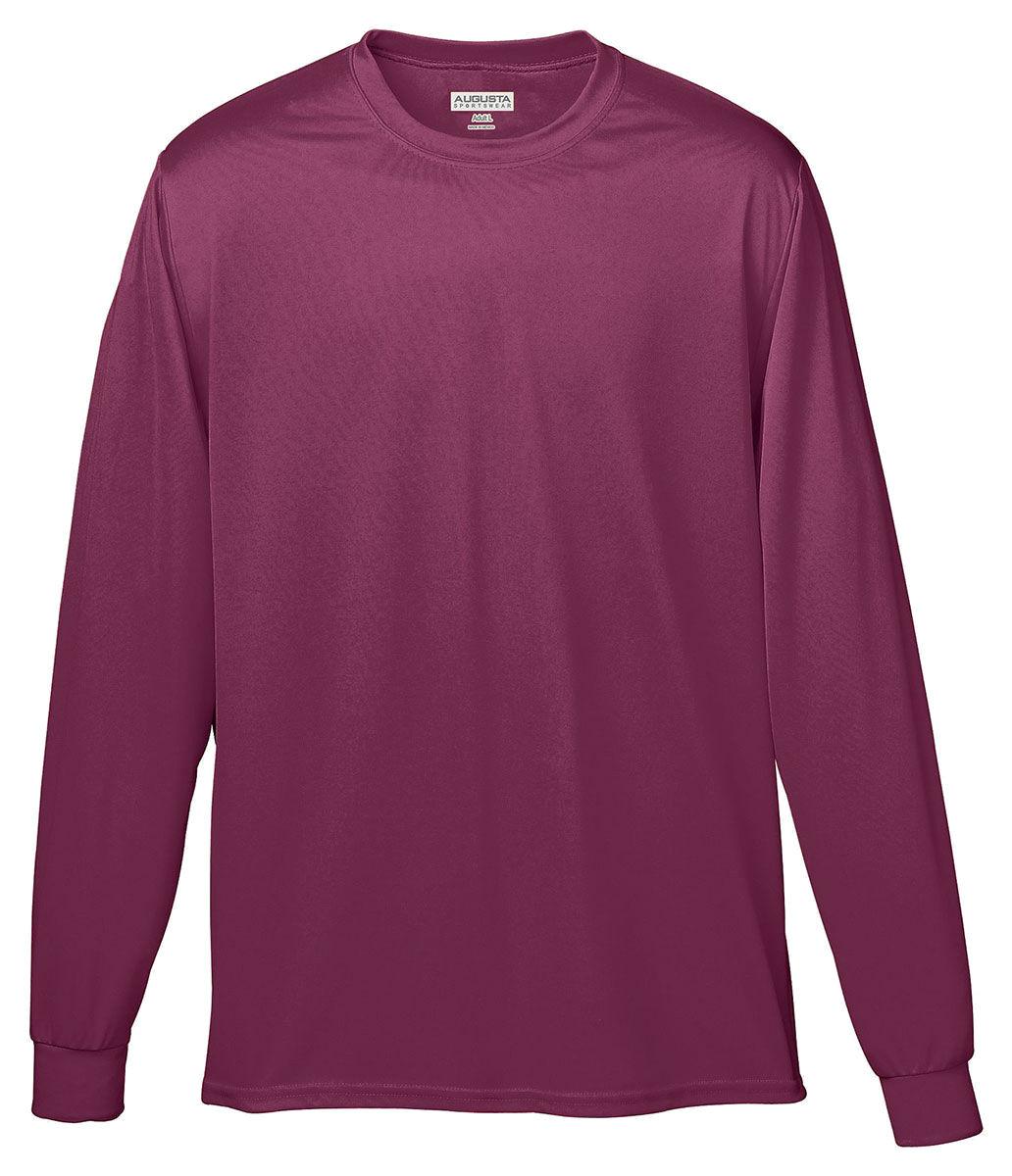 Augusta-Sportswear-Men-039-s-Moisture-Wicking-Long-Sleeve-Basic-Tee-788