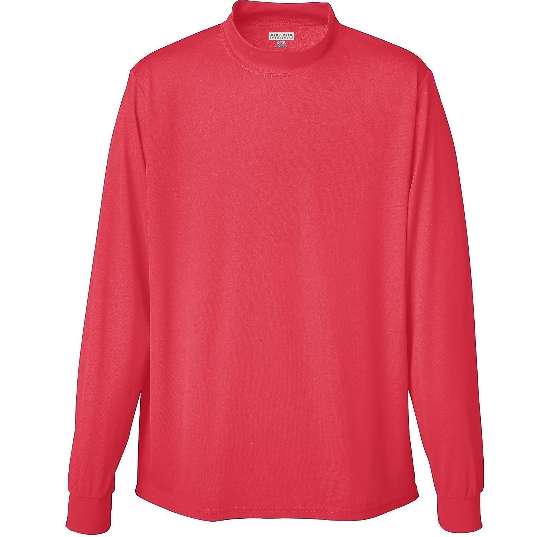 Augusta sportswear men 39 s long sleeve wicking mock for Mens mock turtleneck shirts sale