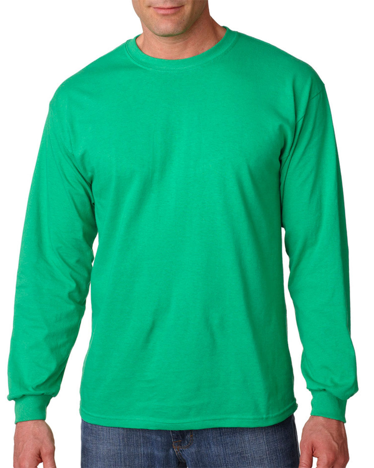bf3d2589a07f Gildan Mens Crewneck Guys Heavy Cotton Long Sleeve T Shirt 5400 Forest  Medium B04060544. About this product. Picture 1 of 4; Picture 2 of 4;  Picture 3 of 4 ...