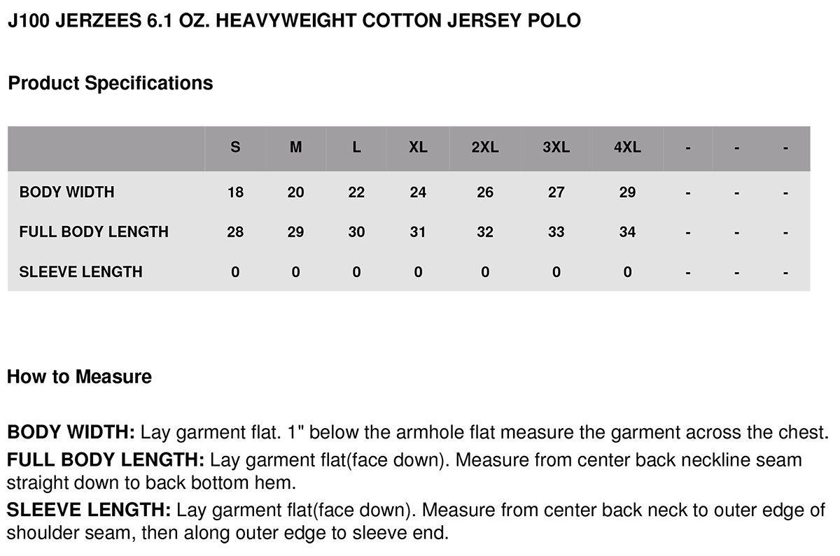 Jerzees-Men-039-s-Heavyweight-Jersey-Welt-Knit-Collar-Bottom-Hem-Polo-Shirt-J100 thumbnail 14