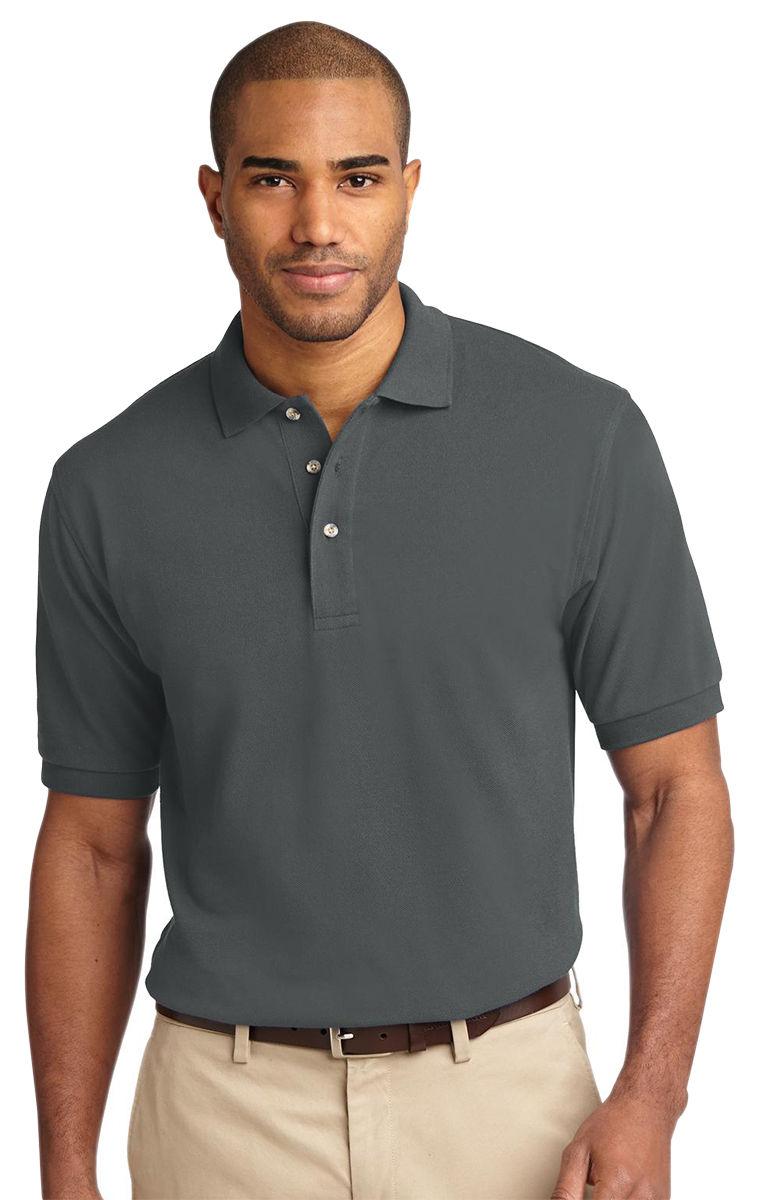 Port-Authority-Men-039-s-Short-Sleeve-100-Cotton-Golf-Polo-Shirt-XS-6XL-K420