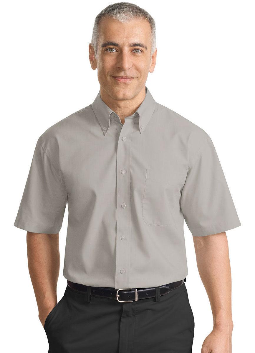 Port Authority Men's Button Down Collar Short Sleeve ...