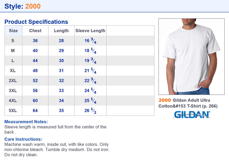NEW-Gildan-T-Shirt-Men-039-s-Short-Sleeve-6-1-oz-Ultra-Cotton-Size-Color-Choice-2000 thumbnail 59