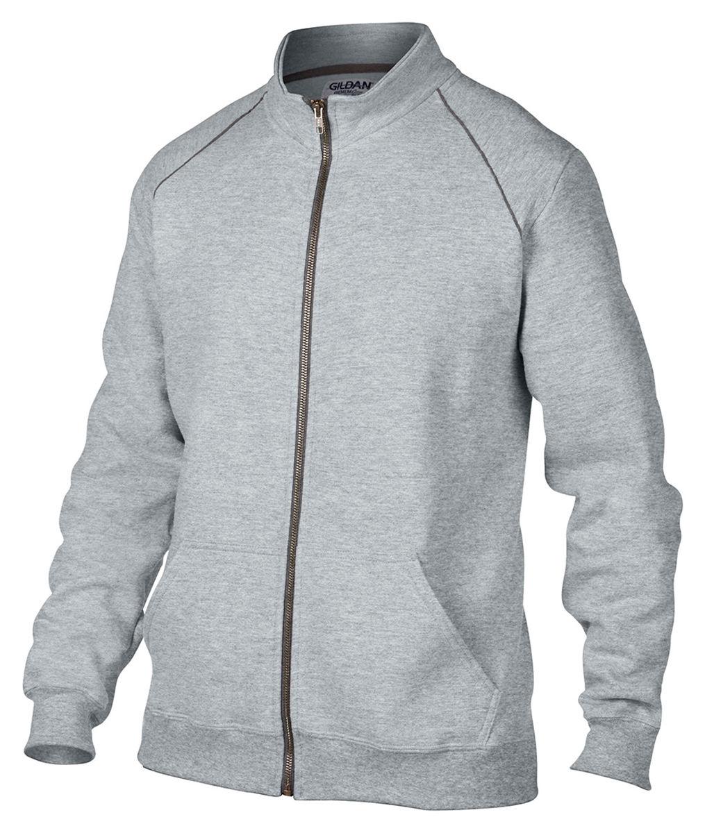 Gildan-Men-039-s-Rolled-Forward-Shoulders-Full-Zip-Pouch-Pocket-Fleece-Jacket-92900 thumbnail 8