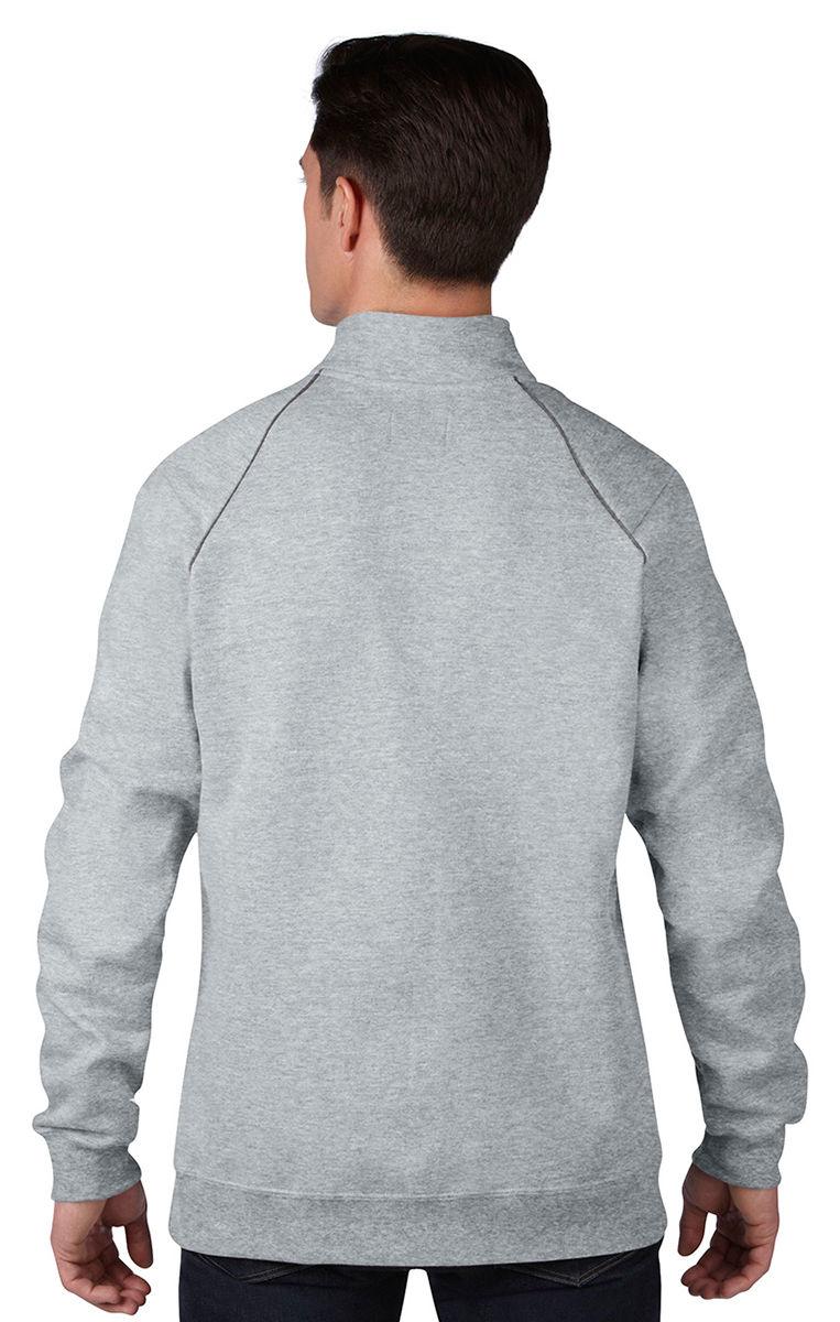 Gildan-Men-039-s-Rolled-Forward-Shoulders-Full-Zip-Pouch-Pocket-Fleece-Jacket-92900 thumbnail 7