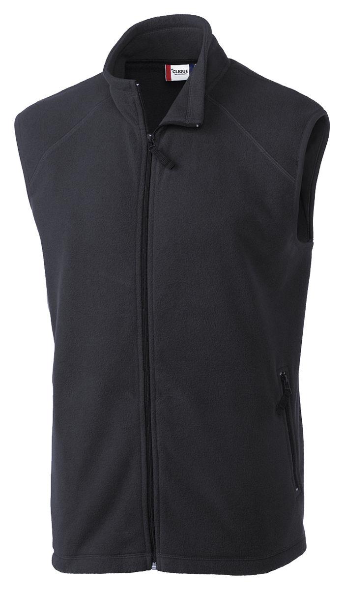 b106fa102625 Clique Men s Two Front Zip Pockets Full Zip Polyester Microfleece Vest.  MQO00026