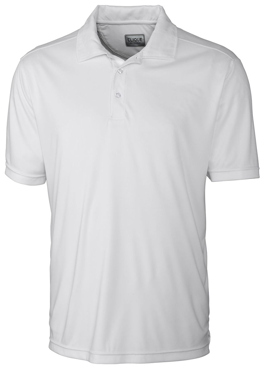 Clique Mens New Polyester Short Sleeve Moisture Wicking Polo Shirt