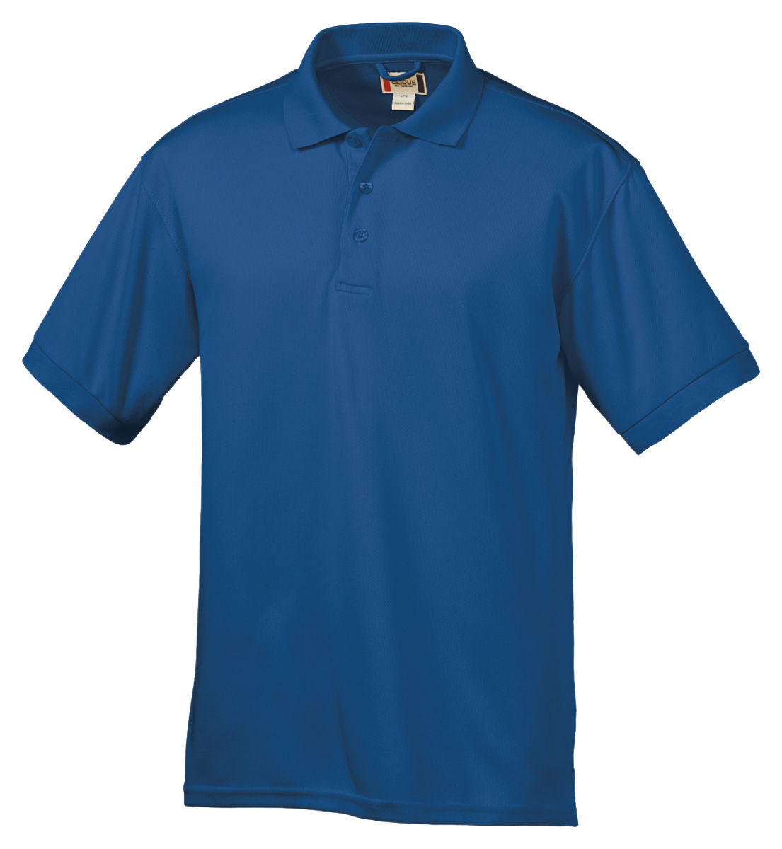 Clique men 39 s moisture wicks polyester two button placket for Men s polyester polo shirts
